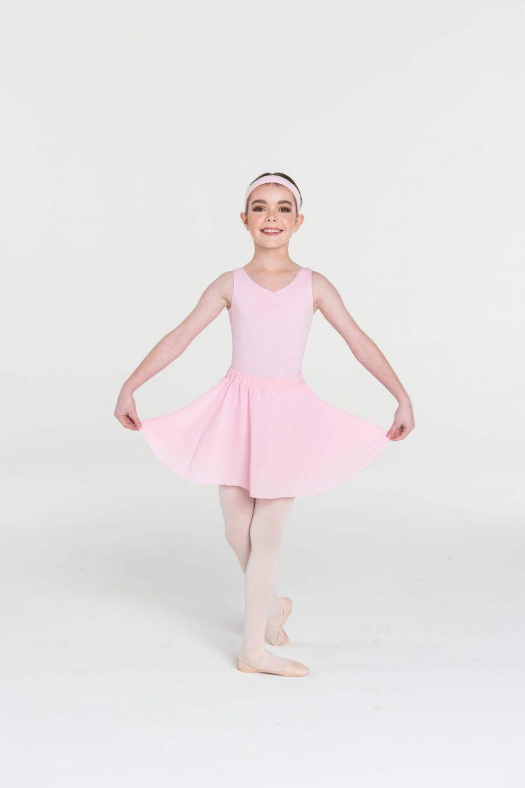 full circle skirt ballet pink