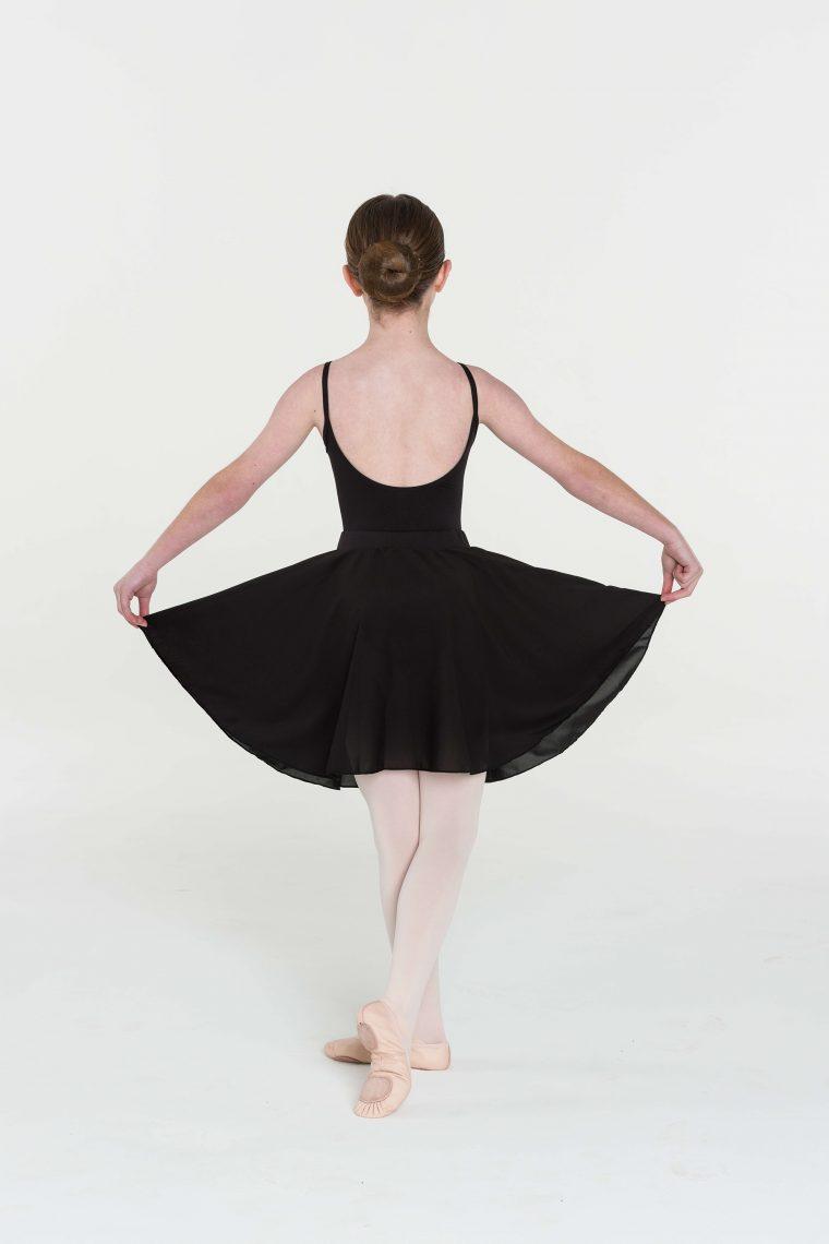 long circle skirt black