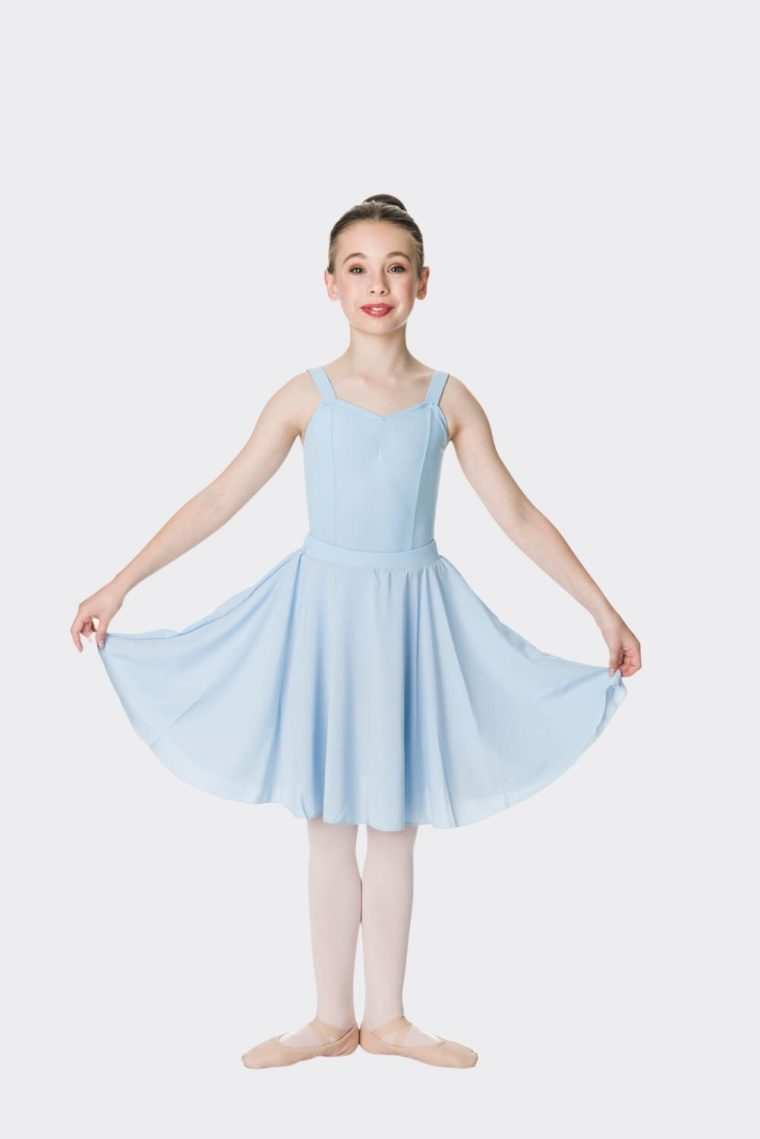 long circle skirt pale blue