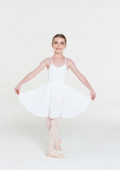 long circle skirt white