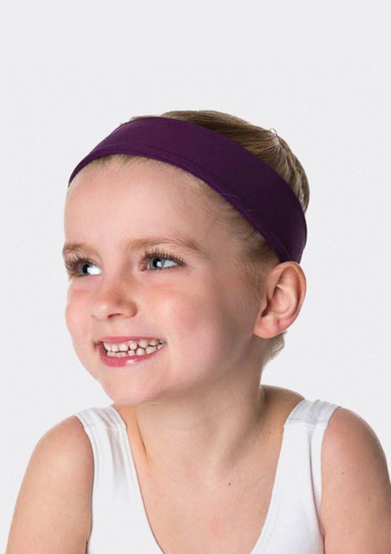 tactel headband plum