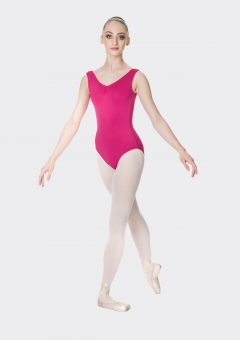 premium thick strap leotard mulberry