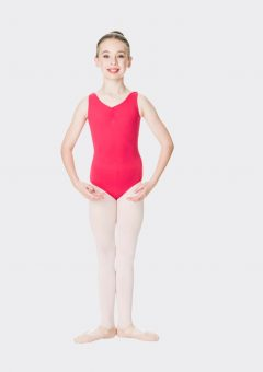 premium thick strap leotard red