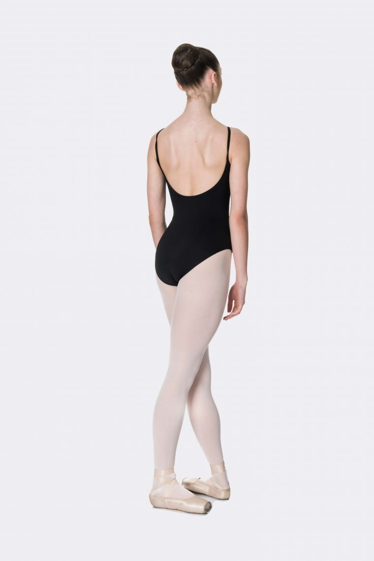 camisole strap leotard black