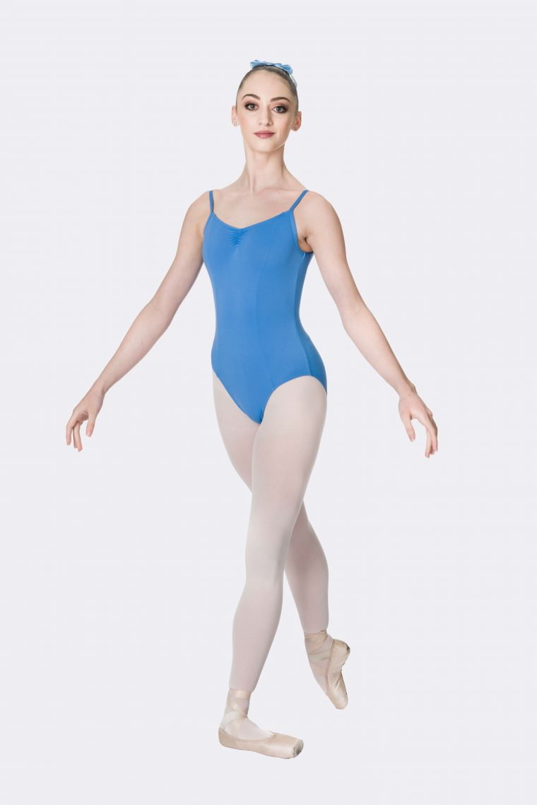 camisole strap leotard cornflower blue