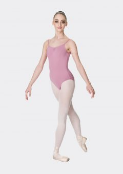 camisole strap leotard dusty pink