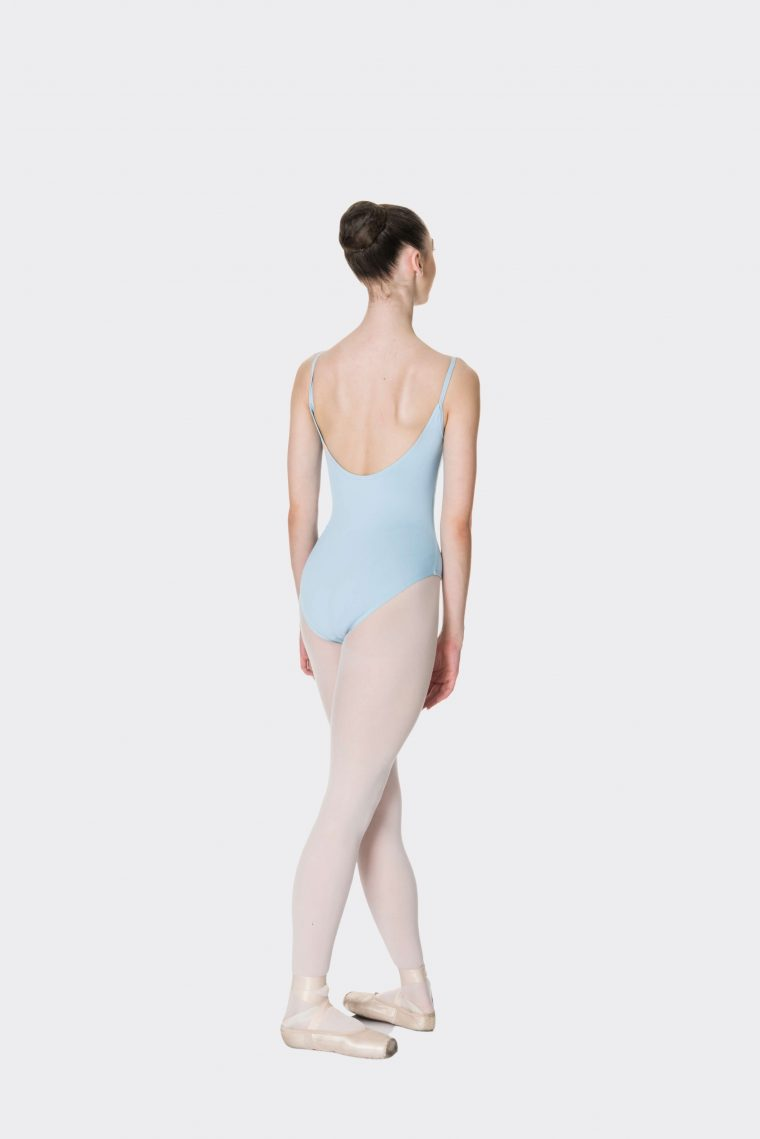 camisole strap leotard pale blue
