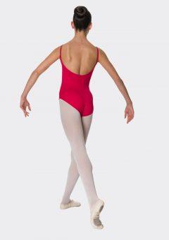 camisole strap leotard red