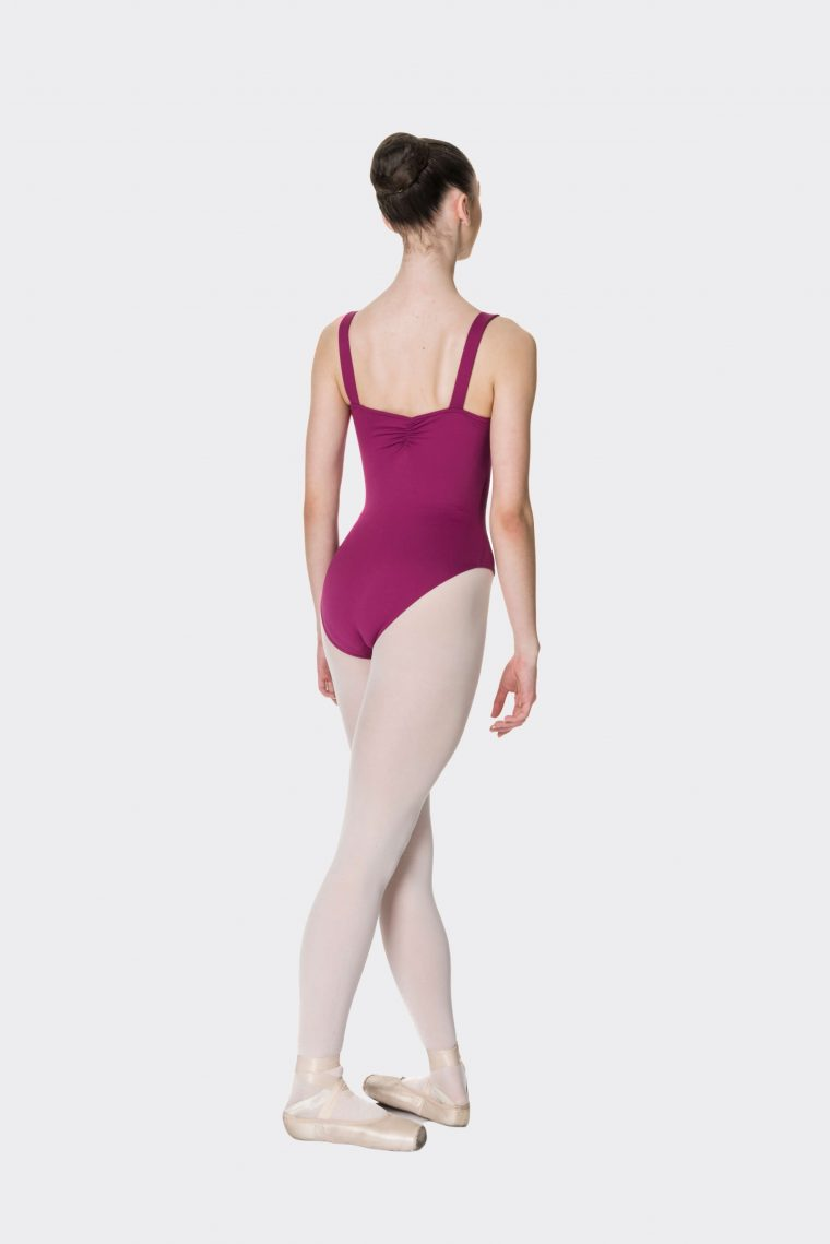 wide strap leotard boysenberry