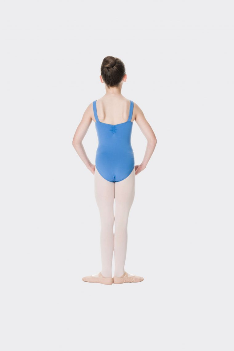 wide strap leotard cornflower