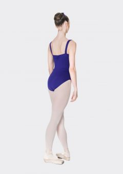 wide strap leotard dark purple