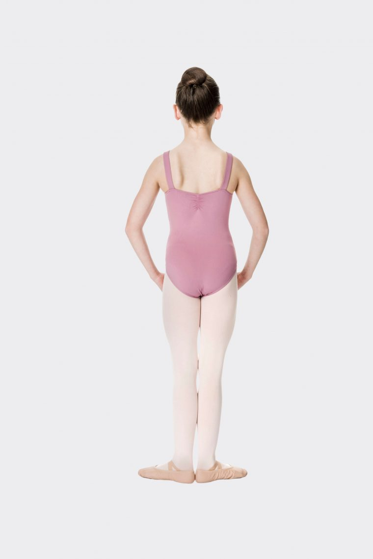 wide strap leotard dusty pink