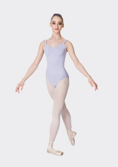 wide strap leotard lilac