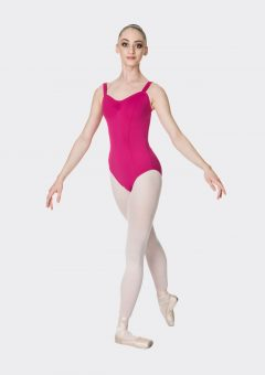 wide strap leotard mulberry