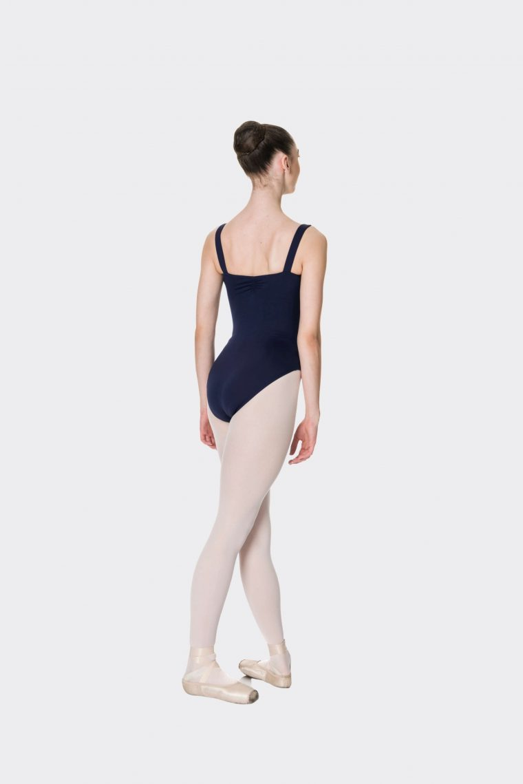 wide strap leotard navy