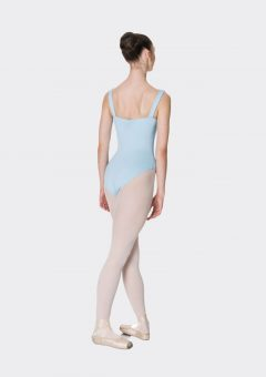 wide strap leotard pale blue