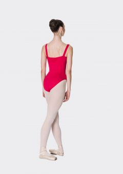 wide strap leotard red