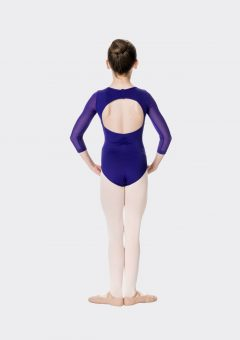 michaela leotard dark purple