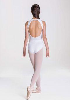 chloe leotard white