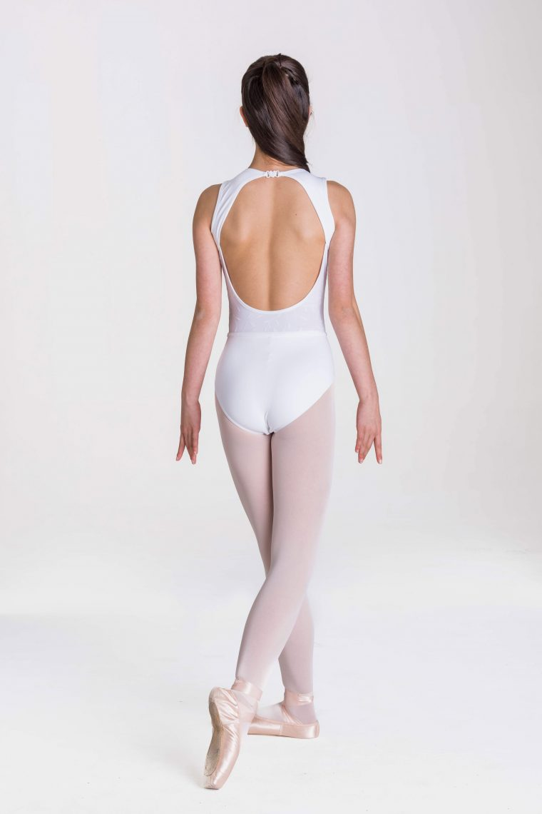 chloe leotard white