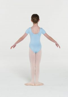short sleeve leotard pale blue