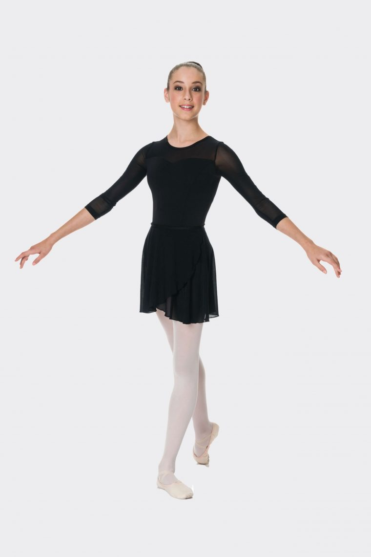 grace mesh skirt black
