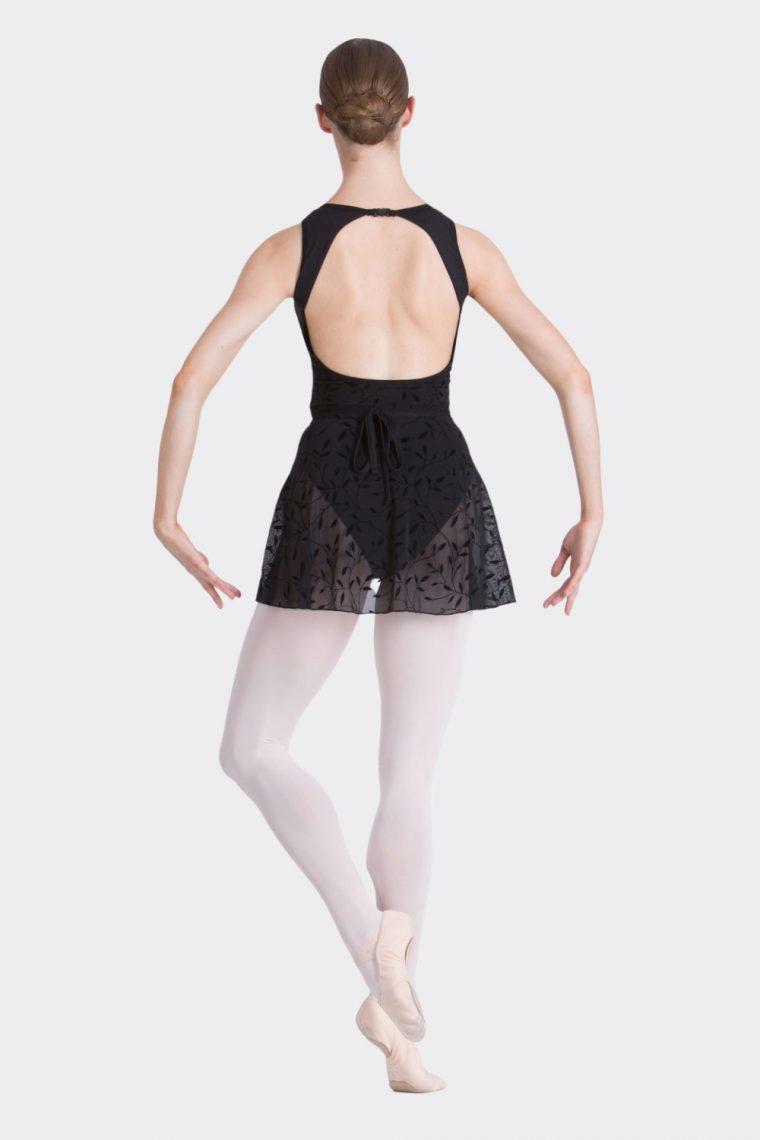 alexa wrap skirt black