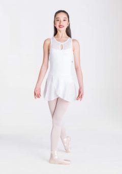 alexa wrap skirt white