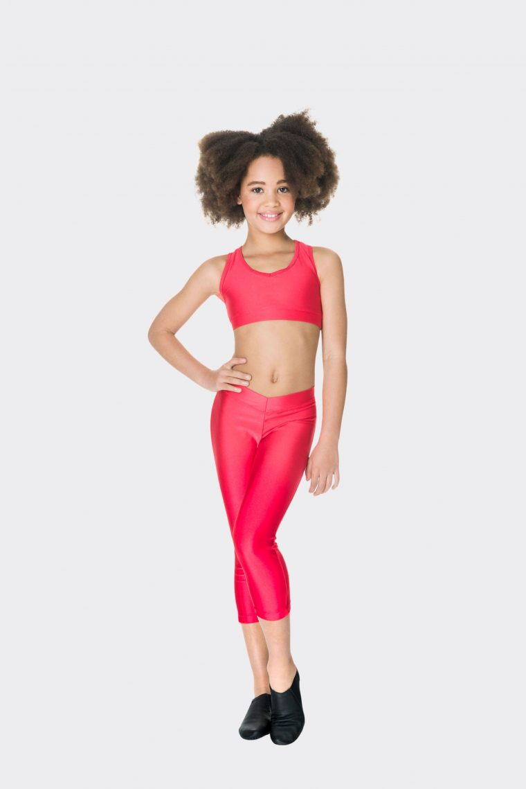 t-back crop top red