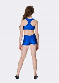 t-back crop top royal blue