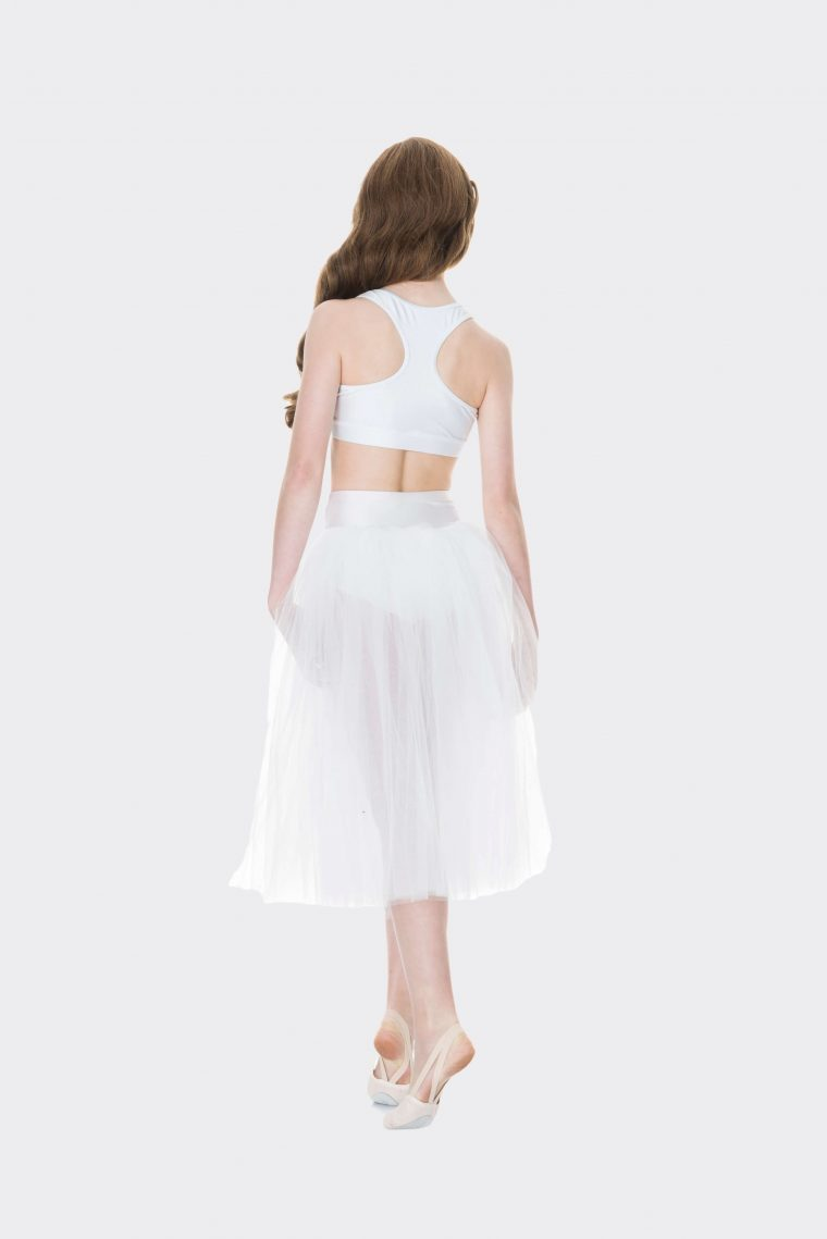 t-back crop top white