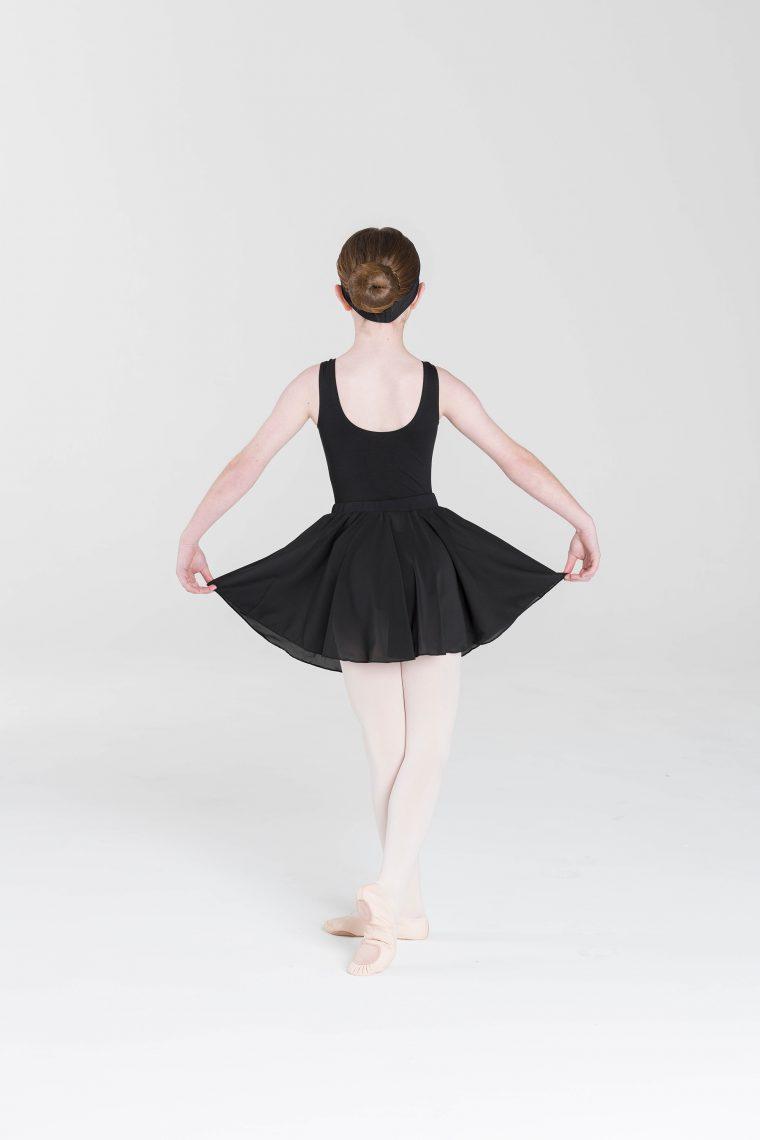 classic full circle skirt black