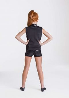 sequin waistcoat black