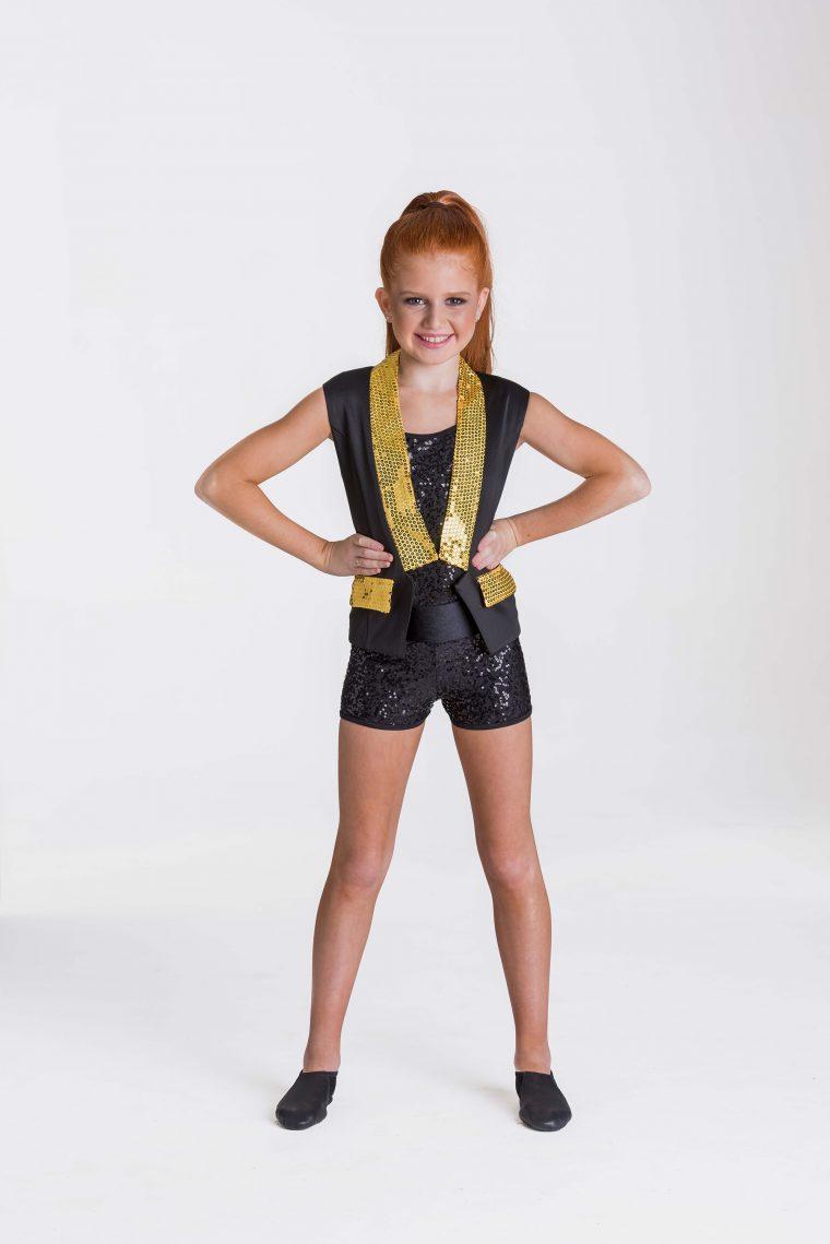 sequin waistcoat yellow