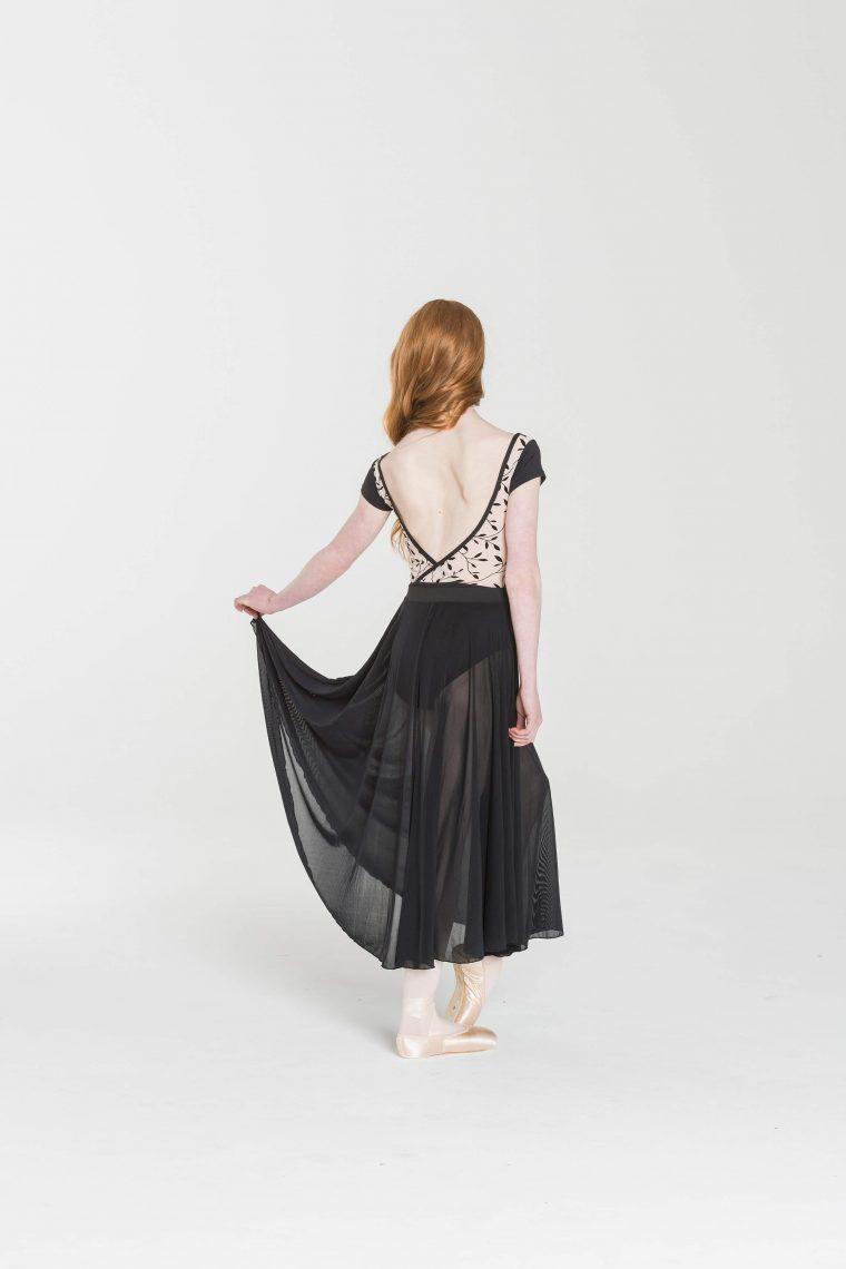 rehearsal mesh skirt black