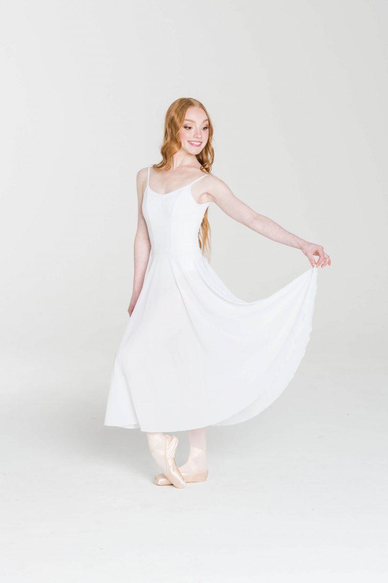 rehearsal mesh skirt white