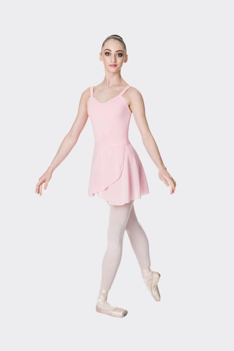 premium wrap skirt ballet pink