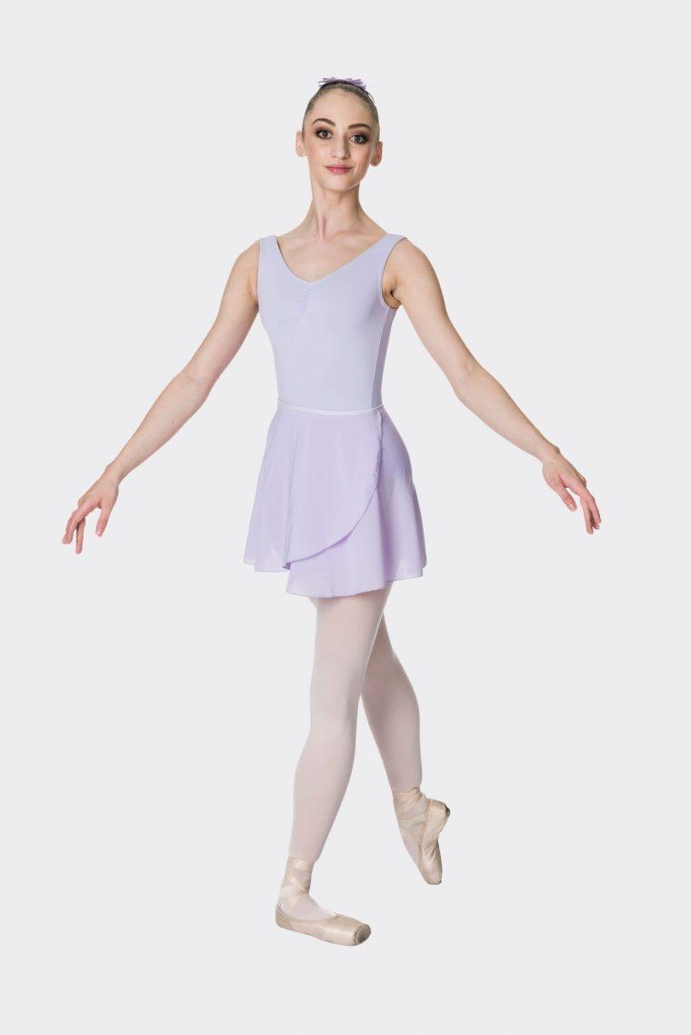 premium wrap skirt lilac