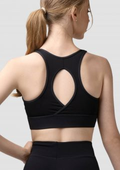 olivia crop top black