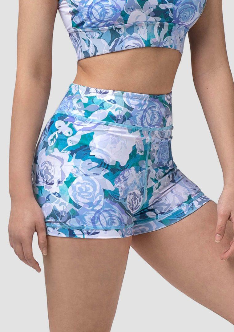 Rosette shorts blue roses
