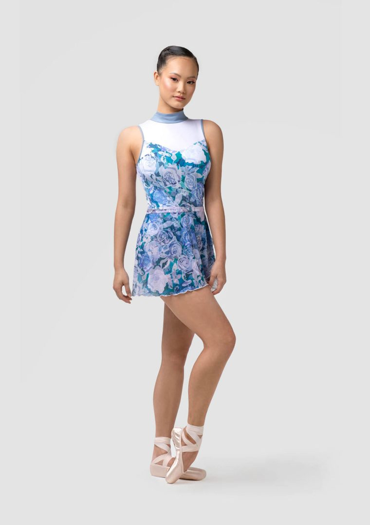 Rosette ballet skirt blue roses