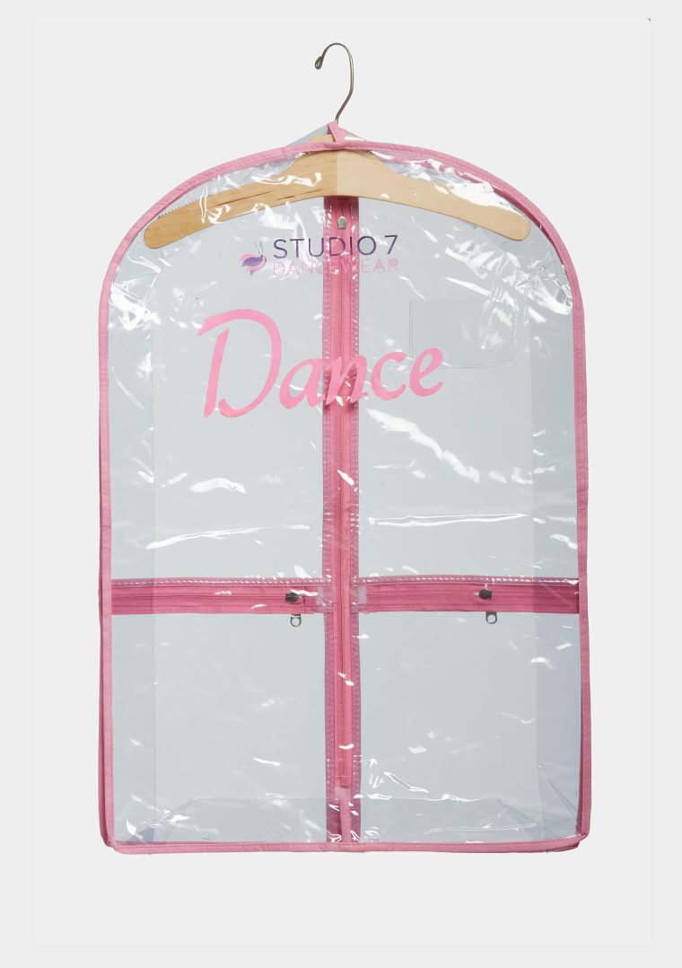 mini garment bag pink