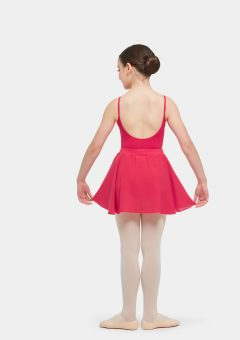 premium full circle skirt red
