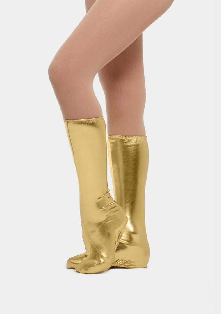 spats metallic gold