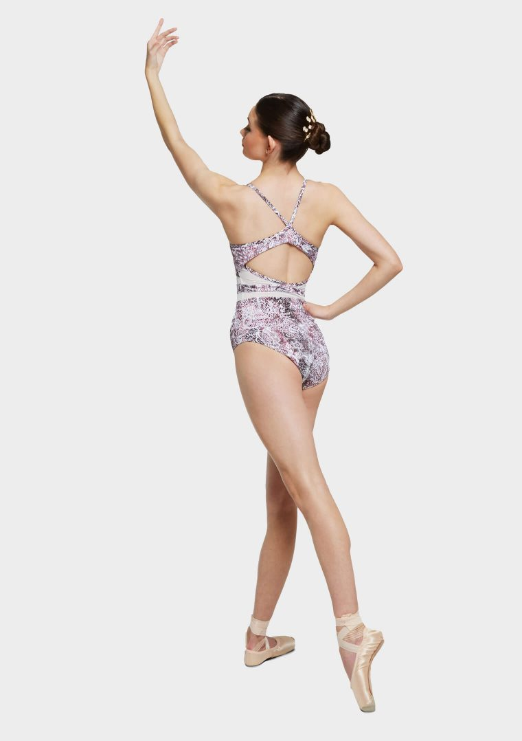 christina leotard pink wild lace