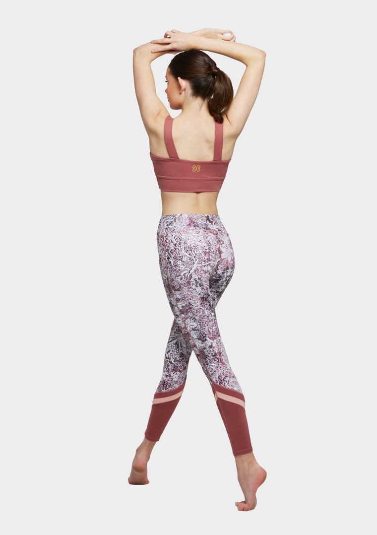 erika leggings pink wild lace