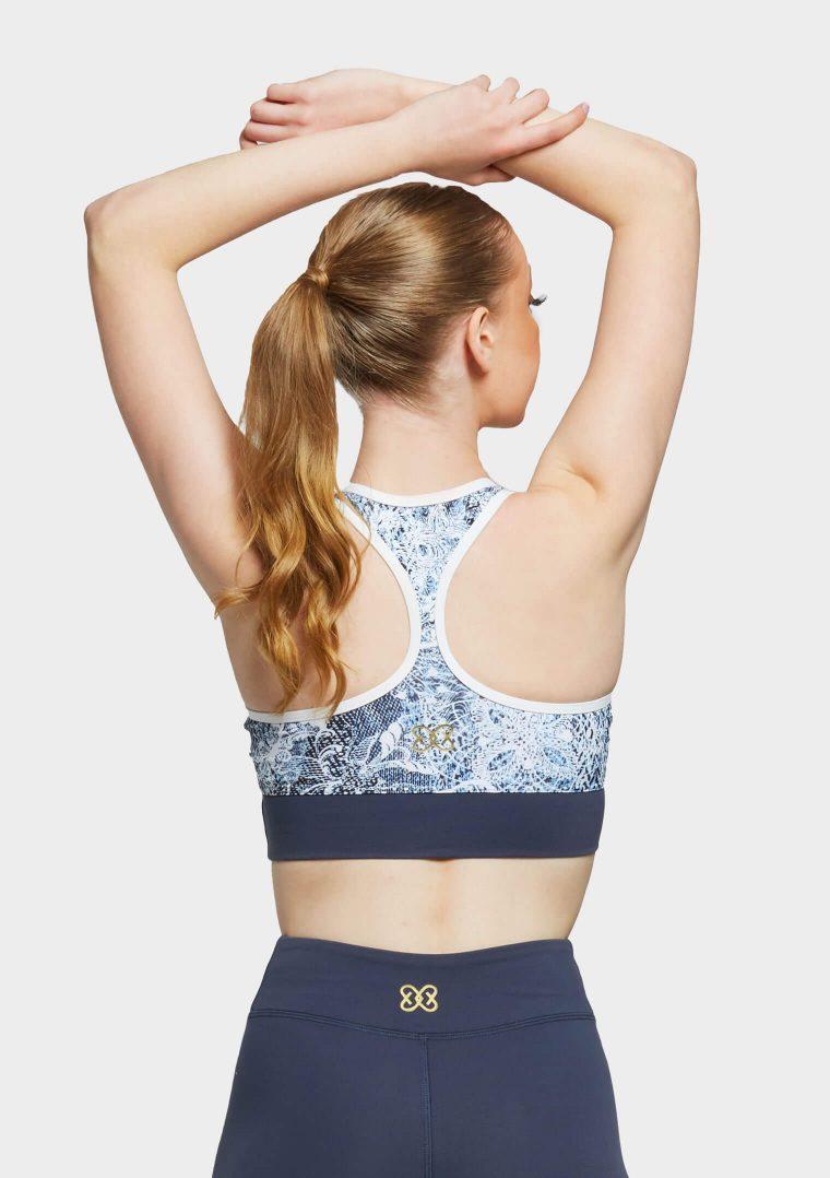 erika top blue wild lace