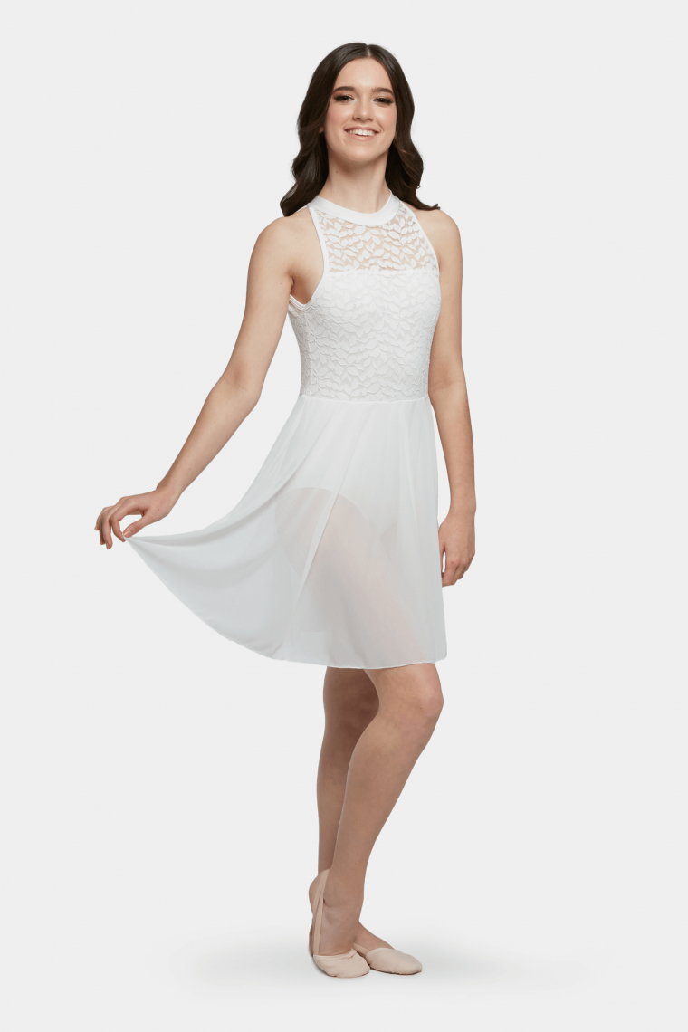 amelia lyrical dress white
