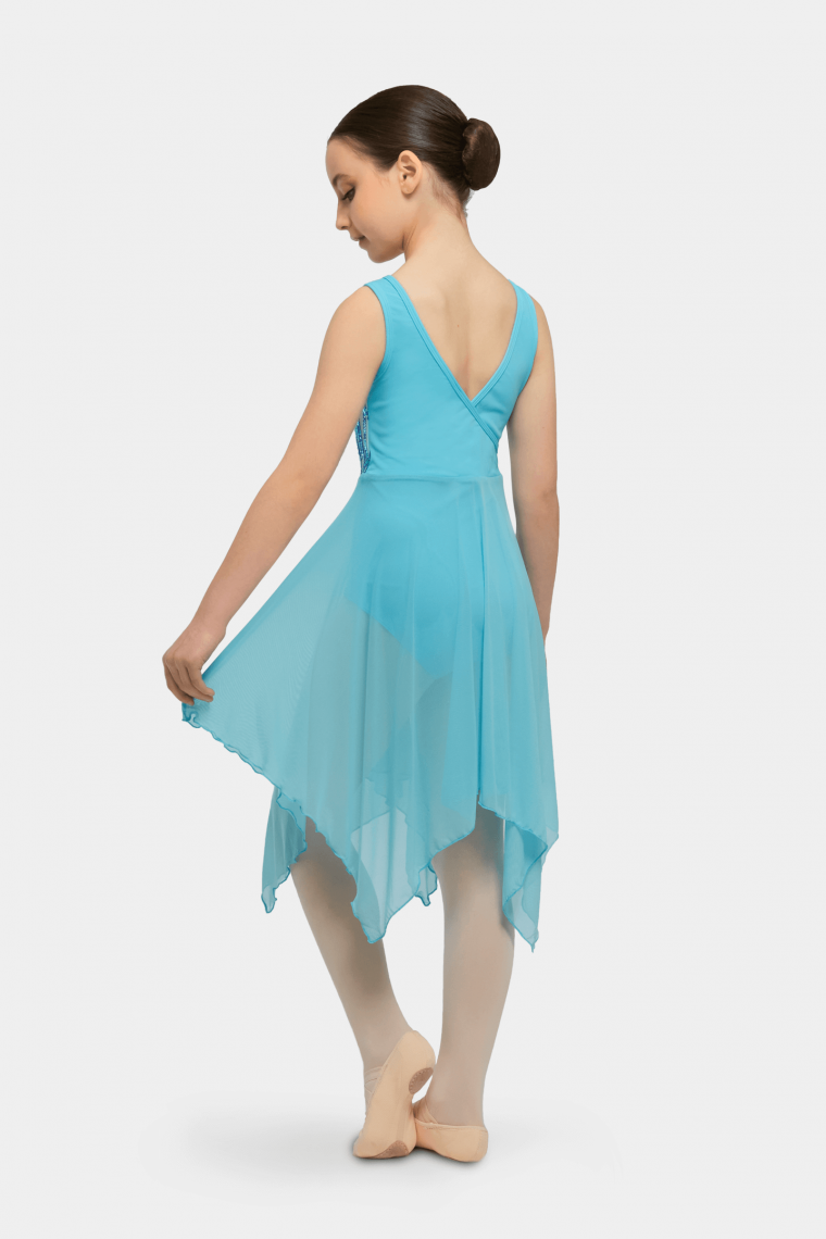 elsie lyrical dress turquoise