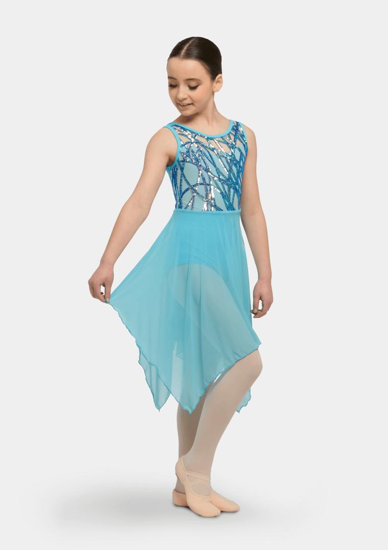 elsie lyrical dress turquoise